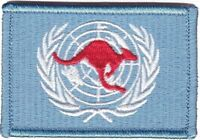 Army United Nations Deployment Patch hook backing