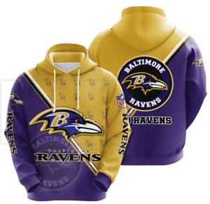 Baltimore Ravens Hoodies Mens Casual Sweatshirt Fans Football Pullover Jacket