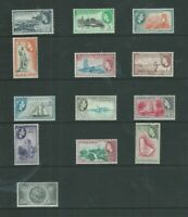 BARBADOS 1953-61 QEII SET (SG289/301)  MINT