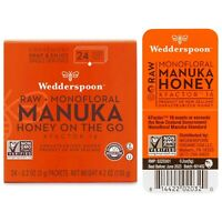 NWT WEDDERSPOON Monofloral Raw Manuka Honey On The Go KFactor 16, 24 Pack 4.2 oz