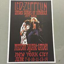 LED ZEPPELIN - CONCERT POSTER M.S.G. NEW YORK CITY JUNE 1977 (A3 SIZE)