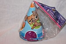 NEW IN PACKAGE LITTLEST PET SHOP 8 PARTY HATS  PARTY SUPPLIES