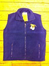 Royal blue sleeveless fleece jacket with greyhound embroidery M