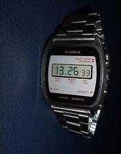 Alter Herren ⌚ DUGENA Quartz Chronograph 36mm 70er Vintage LCD Digital Uhr rar