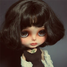 30cm Nude Blythe Doll From Factory Matte Face + Dark Brown Short Hair 12inch