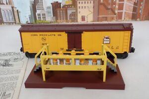 Vintage Postwar Lionel O Gauge No.3672 Operating Bosco Milk Car & Platform Set