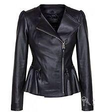 Fashion Vintage Women's Slim Leather Jacket Biker Motorcycle Short Coat = W354