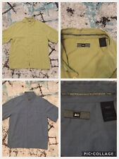 2 Small REI Men's Outdoors Hiking Short Sleeve Button Shirts