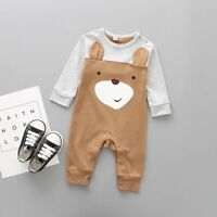 Newborn Infant Baby Boy Girl Cartoon Animal  Cotton Romper Jumpsuit Clothes