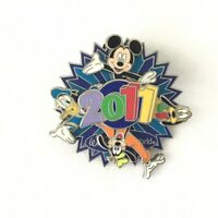 Walt Disney World 2011 Rotating Spinning Pin Mickey Goofy Donald Pluto