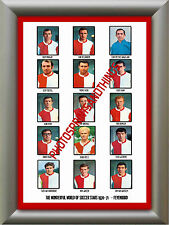 FEYENOORD - 1970-71 - REPRO STICKERS A3 POSTER PRINT