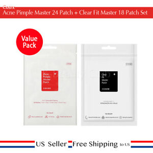 Cosrx Acne Pimple Master 24 Patch + Clear Fit Master 18 Patch Set + Free Sample