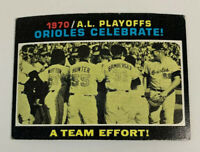 1971 AL Playoffs Baltimore Orioles Celebrate # 198 Topps Baseball Card