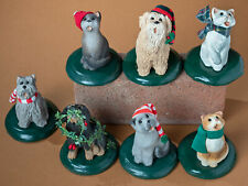 Lot of 7 Byers Choice Dog and Cat Figurines