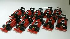 TYCO INDY F1 #8  red/black LOT OF 10 BODIES /rolling . FREESHIP! super price!