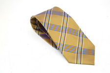 George Gold tie with blue  and white diamond Pattern VGC