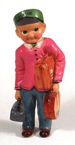 1930s Rare Vintage ANDO TOGORO Japan Celluloid RAILROAD HOTEL PORTER Doll Toy