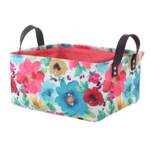 Pioneer Woman Medium Multicolored Floral Canvas Basket, Set Of 2