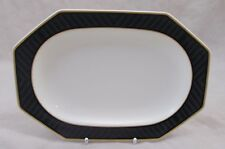 Villeroy & and Boch Black Pearl Pickle Dish/SALSIERA STAND 21.5cm eccellente