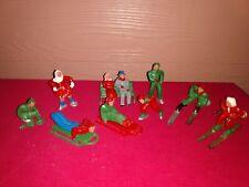 Vintage Barclay Lead Christmas Village Skating Figurenes