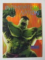 2013 Fleer Retro Marvel Intimidation Nation #3 Hulk Free Shipping!
