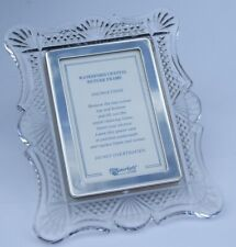 Waterford Crystal Glass Photo Frame