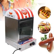 1500w Vertical Stainless Steel Electric Hot Dog Bun Sausage Steamer Machine 110v