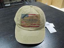 NEW Ralph Lauren Denim & Supply American Flag Baseball Hat Cap Brown Mens RARE