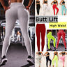 Womens Sports Legging Yoga Pants Fitness Compression PushUp Trousers Gym Workout