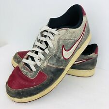 Nike Zoom Air Low Retro Infiltrator Men's Size 11 Gray Red 311191-007 Distressed