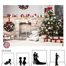 Christmas fireplace Photography Backdrops Xmas Backdrop Photo Background Picture