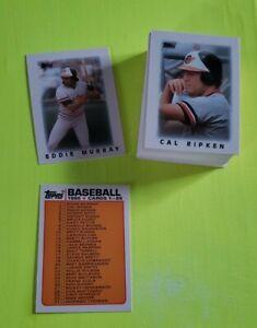 1986 Topps Mini Leaders 66 Card Set
