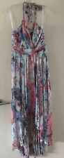 Forever New Size 10 Ashley Halter Neck Floral Silk Hi Low Dress new with tags