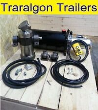 ute tray or trailer Hydraulic Tipper kit heavy duty 12V 24V 15L 1500mm kit tip7