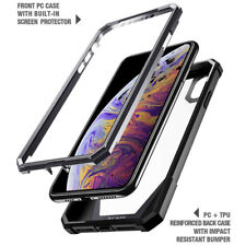 iPhone XS Max Case Poetic [Hybrid] Clear TPU Bumper Shockproof Cover Black