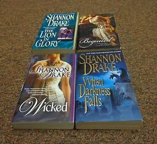 SHANNON DRAKE 8 books PRINCESS OF FIRE, BEGUILED, WICKED, THE LION IN GLORY
