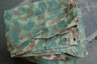 WWII US USMC Reversible Camouflage Poncho