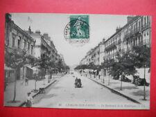 CHALON-sur-SAÔNE  :  Le Boulevard de la République.......VO.1913.