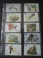 2001 AMAZONIAN FAUNA AND FLORA Set of 12 Different Phone Cards from Brazil