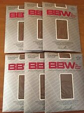 Lot Big Beautiful Woman Sheer Support Pantyhose BBW Plus Size Lt. Taupe Beige 4X