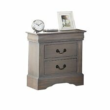 Acme Furniture Louis Philippe III Nightstand In Antique Gray Finish 25503 New