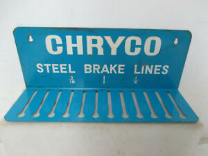 Mopar USED 1960's Chryco Canadian Steel Brake Line Holder Metal Sign CHRYCOU1