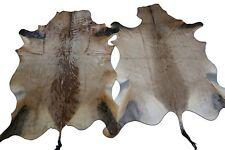 2 Red Hartebeest Antelope buckskin cheap small cowhide rug larger than goat skin