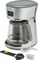 Mr. Coffee - Easy Measure 12-Cup Programmable Coffee Maker - Silver (953)
