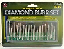 Model Shipways Tool. 30 PC Diamond Burr Set Grit 180. Item# DB30. NEW.