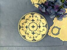 """1958 ROYAL COPENHAGEN BLUE FLUTED FULL LACE BREAD PLATE 5.75"""" #1088 SIGNED XX :)"""