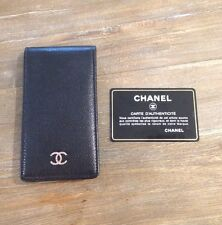 New Chanel Black Lambskin Leather iPhone 4/4S Case, CC & ID holder, $450