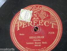 78rpm LENNOX DANCE ORCH shalimar / dreamy devon PATHE P304