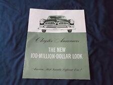 1955 Chrysler Brochure Green tone