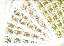 USSR 1988..n° 5529-33..YT 126€..FLOWER POPULATING DECIDUOUS FORESTS..(5 SHEETS)
